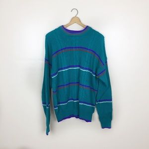 [Vintage] 80s Style Cable Knit Oversized Sweater